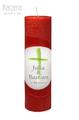 Hochzeitskerze rot mit Kreuz